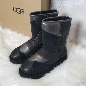 UGG Classic Glitter Patchwork Boots Wool Lining